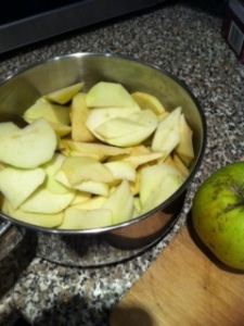 Apples for the crumble