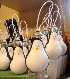 recycled lightbulbs